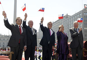 President of Chile - The five most recent presidents of Chile in 2010