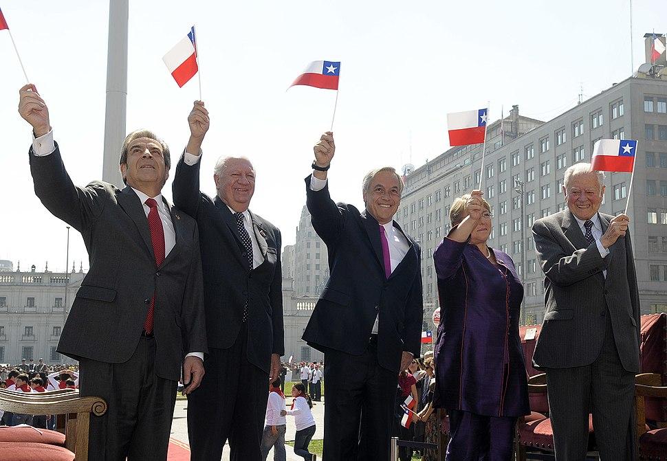 Izamiento de la Gran Bandera Nacional - Presidentes de Chile