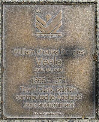 W. C. D. Veale - Plaque on the Jubilee 150 Walkway