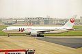 JA8398 B767-346 Japan Airlines NGO 20MAY03 (8418643397).jpg