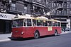 A 1957 Vétra VBF-model trolleybus in Grenoble in 1965