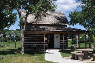 Belle Fourche, South Dakota - Johnny Spauling Cabin in Belle Fourche