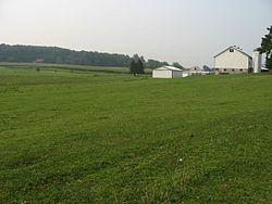 A farm in Jackson Township
