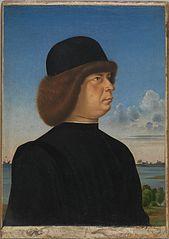 Portrait of Alvise Contarini(?); (verso) A Tethered Roebuck