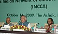 Jairam Ramesh giving his observations after day-long National Workshop on Indian Network of Climate Change Assessment, in New Delhi on October 14, 2009.jpg