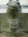Jakob Probst (1880–1966), Columbus, 1950. Die Skulptur steht auf der rechten Seite des Wirtschaftsgymnasiums, Wirtschaftsmittelschule Basel (Spielplatz) (3).jpg