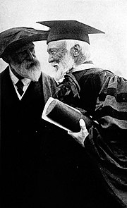 James Bryce, right, with Andrew Carnegie; Bryce served as a trustee of the Carnegie Trust for the Universities of Scotland
