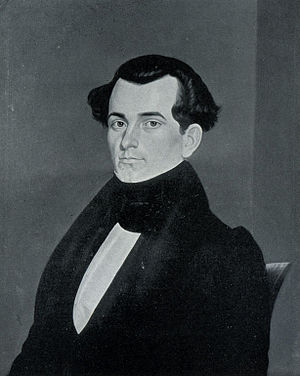 James S. Rollins - Portrait of Rollins at age 22, by Missouri artist George Caleb Bingham