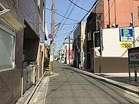 Japan National Route 211 near Kaho Theater.jpg