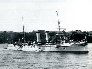 Japanese cruiser Yoshino (ship, 1893) at Yokosuka.jpg