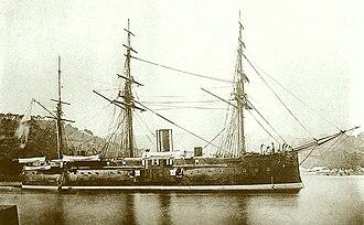 Japanese ironclad Fusō - Image: Japanese ironclad Fusō