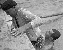 Jean Boiteux with father 1952 Olympics.jpg