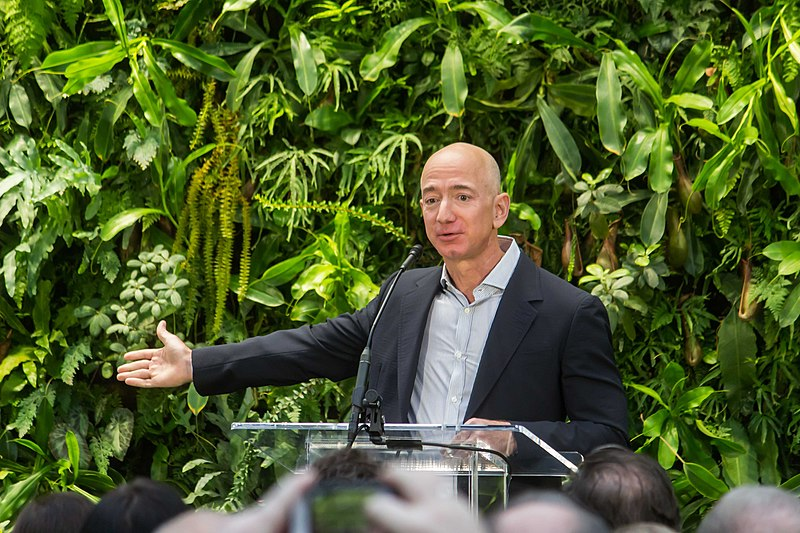 File:Jeff Bezos at Amazon Spheres Grand Opening in Seattle - 2018 (39074799225).jpg