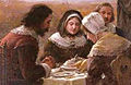 Jennie Augusta Brownscombe - Detail image of The First Thanksgiving - 1914.jpg