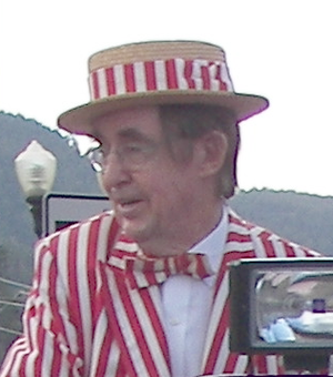 Jerry Haynes - Jerry Haynes, dressed as Mr. Peppermint, participating in Red River, New Mexico 4th of July parade