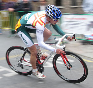 Sport in Guernsey - Joshua Gosselin racing for the Guernsey Velo Club is a cycling sport club in Guernsey