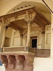 Balcón real 'Jharoka'