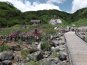Tamamo-no-Mae - Sessho-seki(Killing Stone) and Thousand Jizo Statues