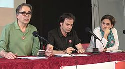 Joan Subirats, Jaume Asens y Ada Colau 2014.jpg