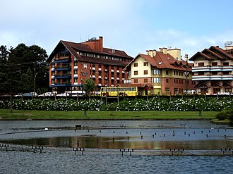 German Brazilians - Gramado is a touristic Italo-Germanic city in Rio Grande do Sul