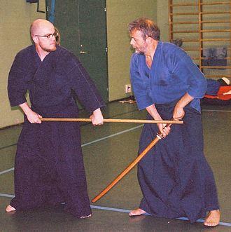 Shintō Musō-ryū - Image: Jodo kuri tsuke
