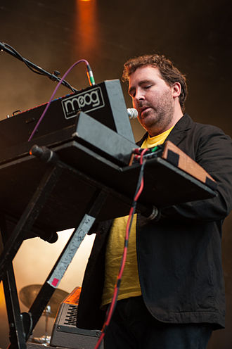 Joe Goddard (musician) - Goddard performing with Hot Chip in 2013
