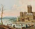 Johann Philipp Ulbricht - Figures in a winter landscape with a gothic castle.jpg