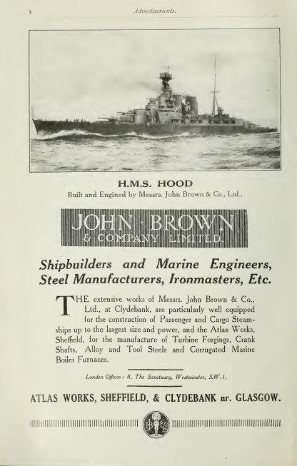 John Brown advertisement Brasseys 1923