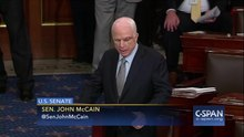 Файл:John McCain returns to Senate and delivers remarks on July 25, 2017.webm