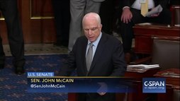 Fichier:John McCain returns to Senate and delivers remarks on July 25, 2017.webm