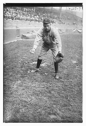 John Peters (catcher) - Image: John Peters, Cleveland AL in 1918