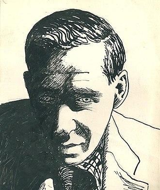 John Sommerfield - 1940s ink drawing of John Sommerfield