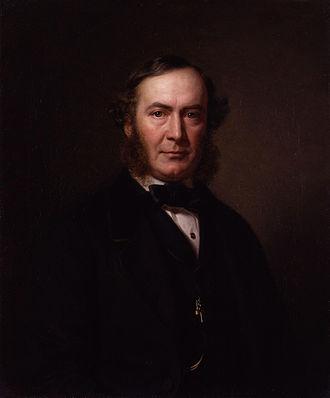 John Thadeus Delane - Portrait by August Schiøtt, 1862
