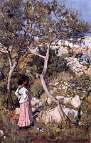 John William Waterhouse - Two Little Italian Girls by a Village.jpg