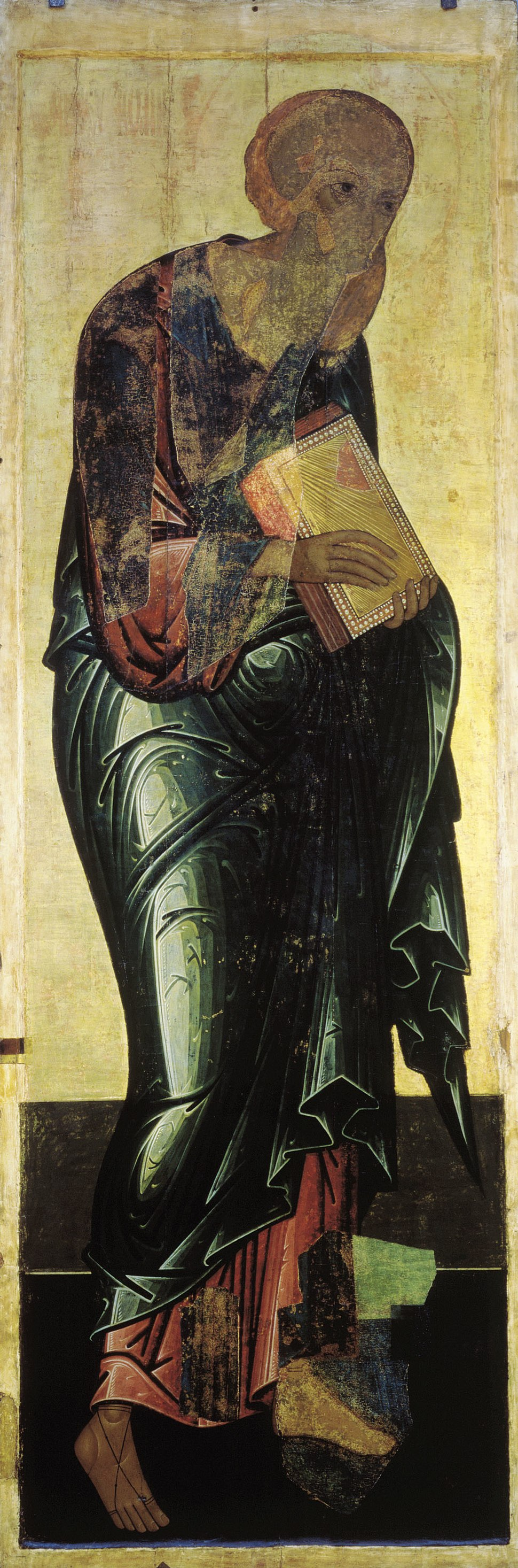 John the Evangelist from Vasilyevskiy chin (15th c., GTG)