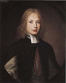 Jonathan Swift in 1682, by Thomas Pooley. The artist had married into the Swift family[13] (Source: Wikimedia)