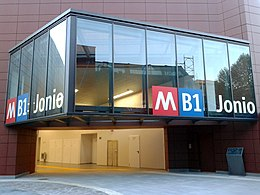 Jonio station (line B, Rome) - Entry.jpg