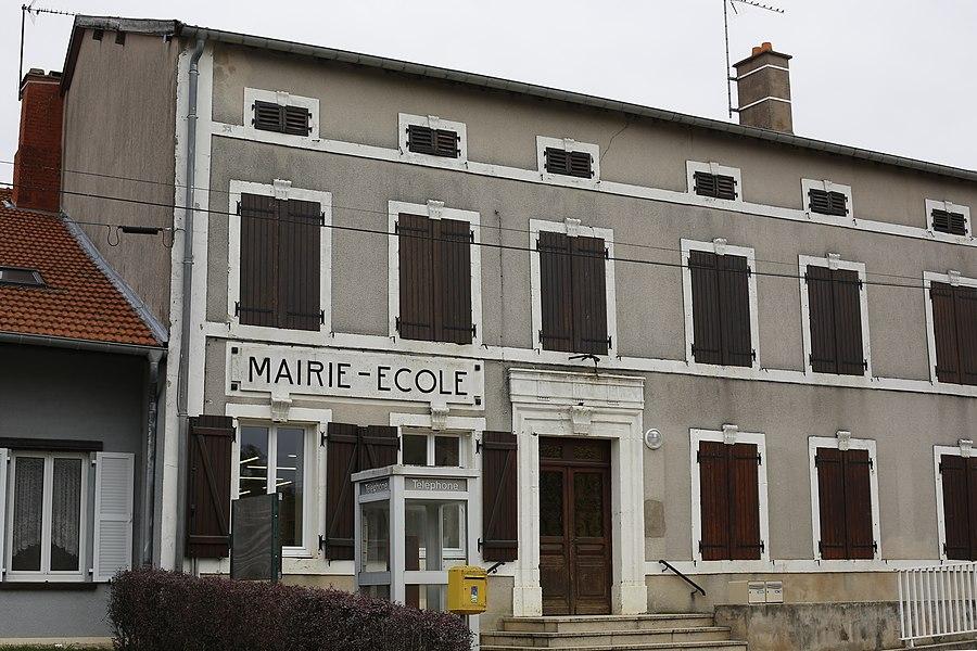 Mairie-école de Jonville-en-Woëvre.