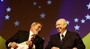 José Alencar - Alencar (right) with President Lula.