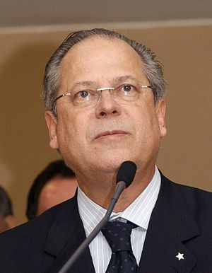 Mensalão scandal - José Dirceu was the Chief of Staff of Brazil when the scandal broke. He was dropped after Jefferson described Dirceu as the ringleader of a plot to hand out illegal monthly payments to congressmen.