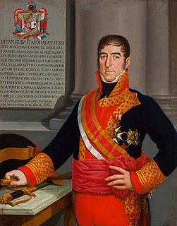 Juan Ruiz de Apodaca, 1st Count of Venadito Spanish Viceroy