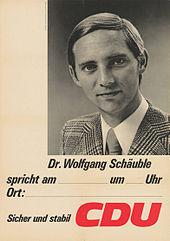 affiche lectorale du jeune candidat de la cdu wolfgang schuble - Wolfgang Schauble Lebenslauf