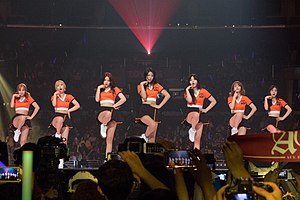 AOA (band) - AOA performing at KCON 2015 in Los Angeles.