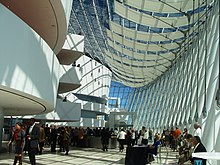 The concourse of the Kauffman Center for the Performing Arts.