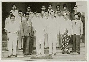 Alexander Andries Maramis - Maramis (middle) behind Sukarno