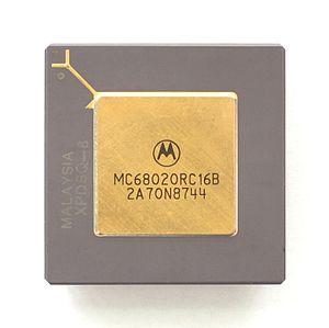 English: CPU Motorola MC68020
