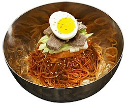 KOCIS Bibim-naengmyeon Spicy Mixed Buckwheat Noodles (4594769120).jpg