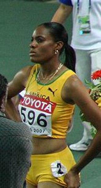 2006 World Junior Championships in Athletics - Kaliese Spencer of Jamaica won the 400 metres hurdles.