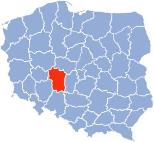 Kalisz Voivodeship - Map of 1975