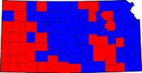 Kansas Gubernatorial Election Results by county, 2006.png